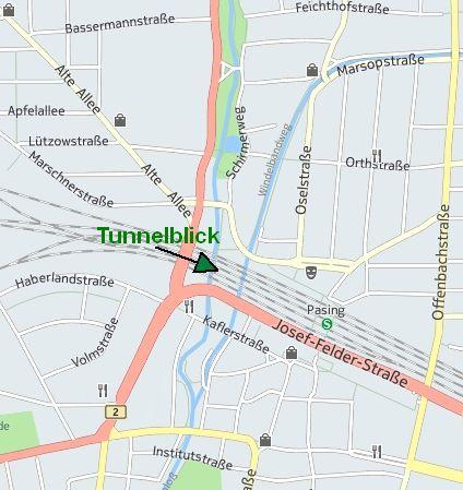 Tunnel Hermann-Hesse-Weg Übersicht